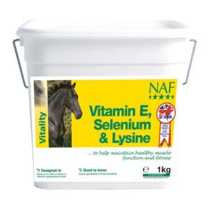 Naf Vitamin E, Selenium & Lysine – E vitamiini lisand seleeni ja lüsiiniga